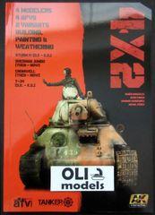 4X2 Book: T34, Sturm IV, Jumbo, Cromwell - AK Interactive 4801