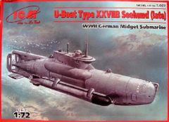 1/72 WWII German U-Boat Type XXVIIB Seehund (Late) Midget Submarine - ICM 7