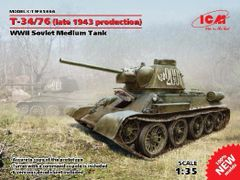 1/35 WWII Soviet T34/76 (Late 1943 Production) Medium Tank - ICM 35366