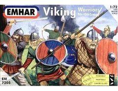 1/72 9th-10th Century Viking Warriors (50) - Emhar 7205