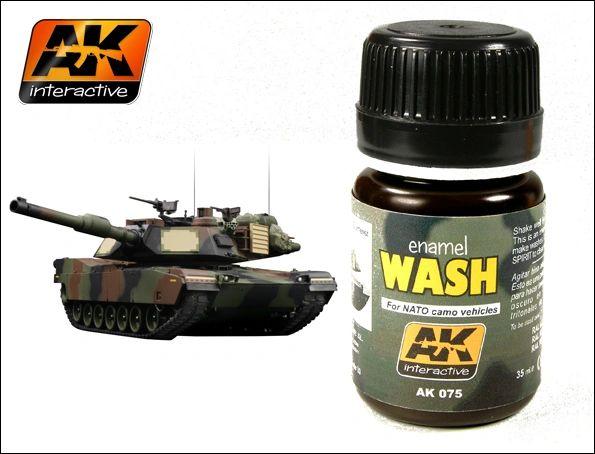 NATO Vehicle Wash Enamel Paint 35ml Bottle - AK Interactive 75