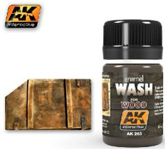 Wash for Wood Enamel Paint 35ml Bottle - AK Interactive 263