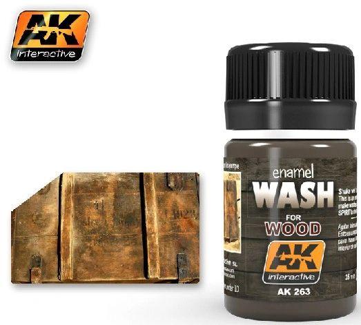 Wash for Wood Enamel Paint 35ml Bottle - AK Interactive 263