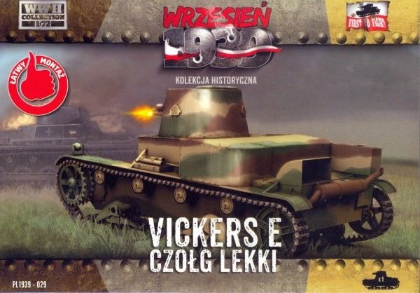 1/72 WWII Vickers E Polish Light Tank w/Single Turret - First to Fight 029