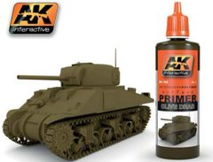 Olive Drab Acrylic Primer 60ml Bottle - AK Interactive 182