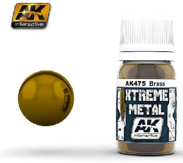 Xtreme Metal Brass Metallic Paint 30ml Bottle - AK Interactive 475