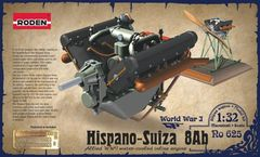 1/32 Hispano Suiza 8Ab WWI 150hp V-Figurative Water-Cooled Aircraft Engine - Roden 625