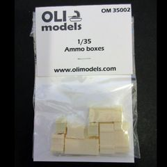 1/35 Ammo Boxes - Resin Stowage Set - OLI Models 35002