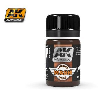 Air Series: Landing Gear Enamel Wash 35ml Bottle - AK Interactive 2029