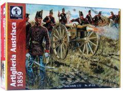 1/72 Waterloo: Austrian Artillery 1859 (16 w/4 Cannons) - Waterloo 18