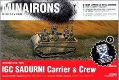 1/72 Spanish Civil War: IGC Sadurni Carrier (1) w/Crew (Resin) - Minairons 7213
