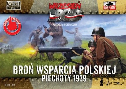 1/72 WWII Polish Infantry Support Weapons w/15 Crew - First to Fight 027