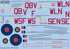 1/144 Avro Lancaster Victorious Virgin, Nan, Fanlight Fanny, No Not Now - WBS-144005