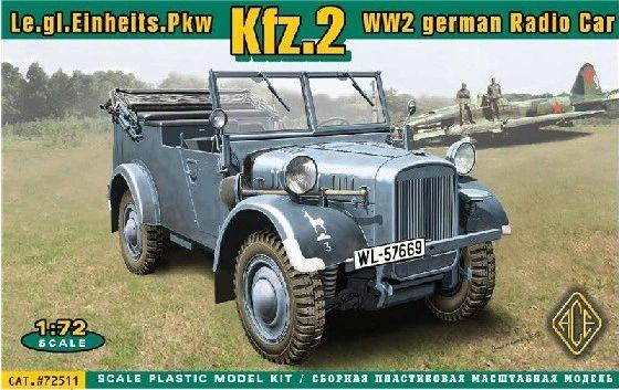 1/72 Kfz2 WWII German Radio Car - ACE 72511