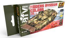 Modern Russian Vol.1 Acrylic Paint Set (6 Colors x 17ml) - AK Interactive 4130