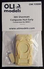 1/72 M4 SHERMAN Composite Hull Early RESIN Conversion - OLI Models 72008