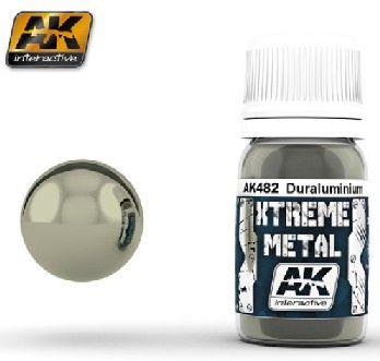 Xtreme Metal Duraluminum Metallic Paint 30ml Bottle - AK Interactive 482