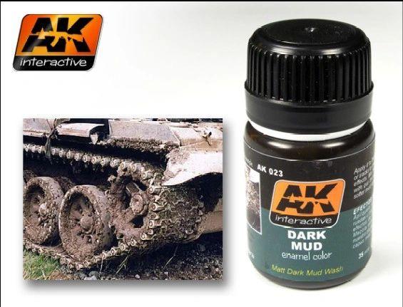 Dark Mud Enamel Paint 35ml Bottle - AK Interactive 23