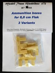 1/72 8.8 cm Flak Ammo Boxes 3 Variants RESIN Upgrade Set - Modell Trans 72366