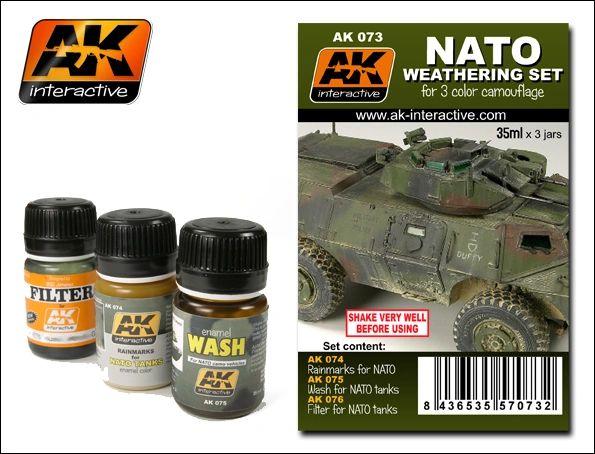 NATO Camouflage Enamel Paint Set (74, 75, 76) - AK Interactive 73