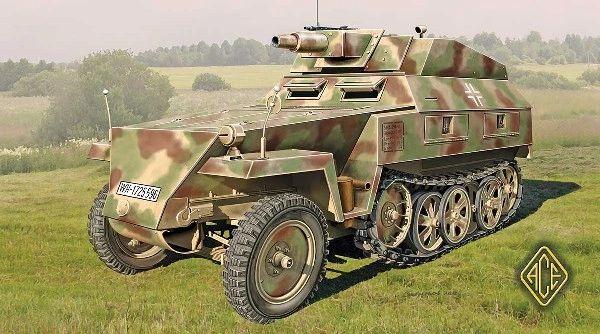 1/72 SdKfz 250/8 (7,5cm) Light Armored Halftrack - ACE 72514
