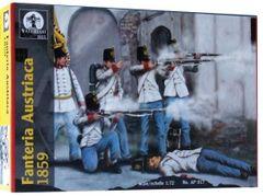 1/72 Waterloo: Austrian Infantry 1859 (40 & 4 Horses) - Waterloo 17