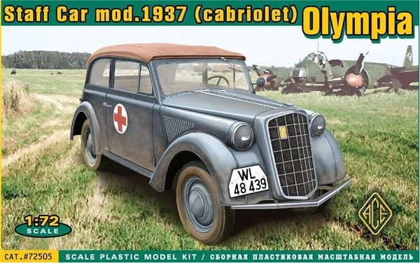 1/72 Olympia Mod 1937 Convertible Staff Car - ACE 72505