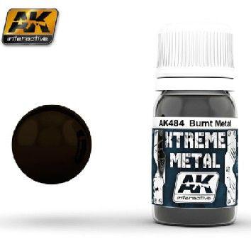 Xtreme Metal Burnt Metal Metallic Paint 30ml Bottle - AK Interactive 484