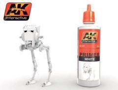 White Acrylic Primer 60ml Bottle - AK Interactive 177