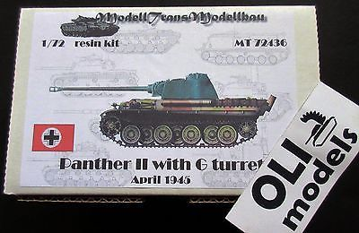 1/72 PANTHER II with G Turret April 1945 RESIN Kit - Modell Trans 72436
