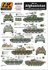 1/35 War in Afghanistan Northern Alliance Tanks & AFVs Wet Transfer Decals - AK Interactive 805