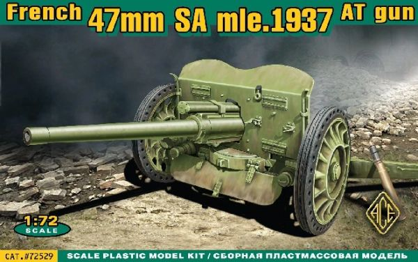 1/72 French 47mm SA Mod 1937 Anti-Tank Gun - ACE 72529