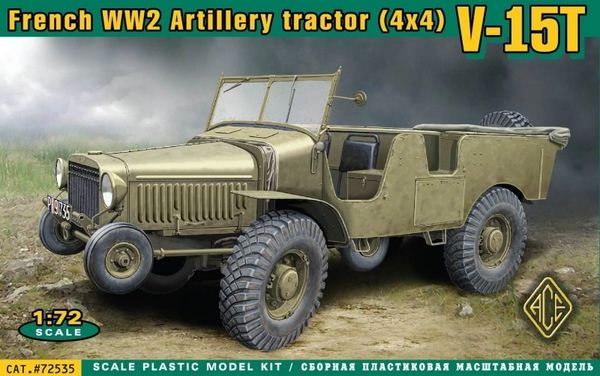 1/72 V15T 4x4 WWII French Artillery Tractor - ACE 72535