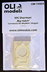 "1/72 M4 SHERMAN ""Big Hatch"" RESIN Conversion - OLI Models 72003"