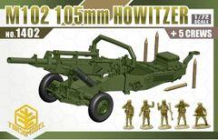 1/72 M102 105mm Howitzer Gun w/5 Crew - TOXSO 1402