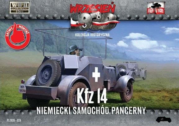 1/72 WWII Kfz.14 German Armored Radio Car - First to Fight 024