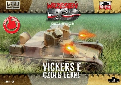 1/72 WWII Vickers E Polish Light Tank w/Double Turret - First to Fight 028