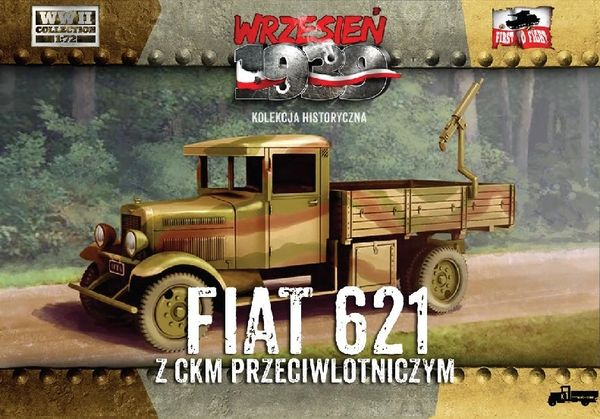 1/72 WWII Polish Fiat 621 Truck w/AA Machine Gun - First to Fight 017