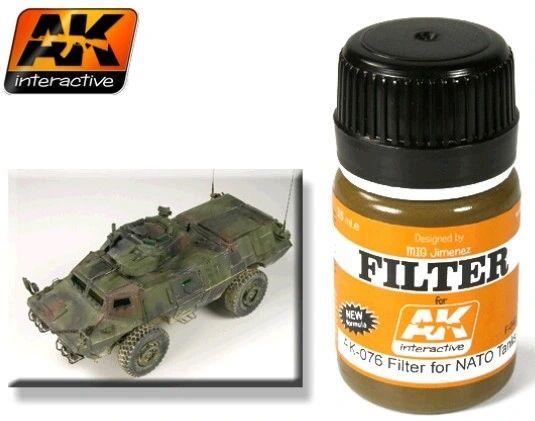 NATO Tank Filter Enamel Paint 35ml Bottle - AK Interactive 76