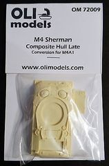 1/72 M4 SHERMAN Composite Hull Late RESIN Conversion - OLI Models 72009