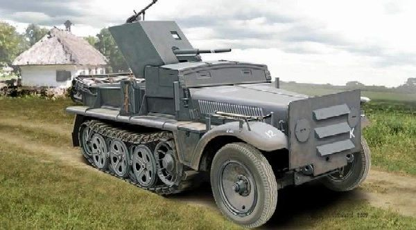 1/72 SdKfz 10 Halftrack w/3.7cm PaK 35/36 Gun - ACE 72281