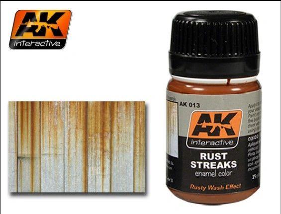 Rust Streaks Enamel Paint 35ml Bottle - AK Interactive 13