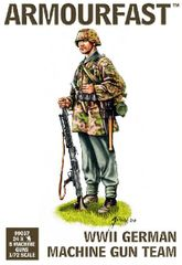 1/72 WWII German Machine Gun Team (24 & 8 Guns) - Armourfast 99007