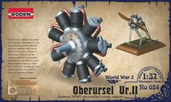 1/32 Oberursel Ur II WWI Aircraft Engine - Roden 624