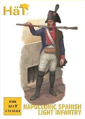 1/72 Napoleonic Spanish Light Infantry (32) - HAT-8300