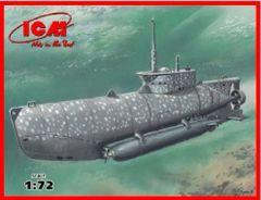 1/72 WWII German U-Boat Type XXVIIB Seehund (Early) Midget Submarine - ICM 6