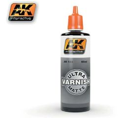 Ultra Matte Acrylic Varnish 60ml Bottle - AK Interactive 183