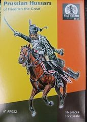 1/72 Waterloo: 7 Years War Prussian Hussars of Friedrich the Great (8 Mtd) - Waterloo 52