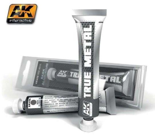 True Metal Wax Dark Aluminum 20ml Tube - AK Interactive 456