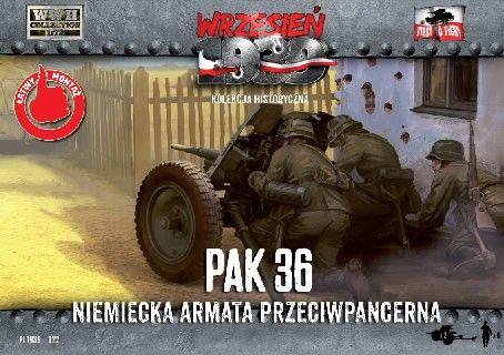 1/72 WWII 3.7cm Pak 36 German Anti-Tank Gun (2) w/6 Crew - First to Fight 022